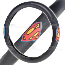 Black Steering Wheel Cover Superman Licensed Products Warner Brothers Design
