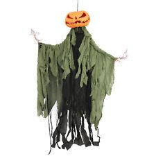 Halloween Haunters Hanging Scary Pumpkin Head Tree Branch Man Prop Decoration