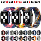 For Apple Watch Band Series 7 6 5 4 3 SE Nylon Braided iWatch Strap 38 40 42 44