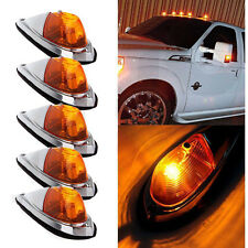 5pcs Universal Teardrop Style Amber Cab Roof Clearance Marker truck Lights kit