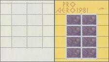 Switzerland 1981 - Miniature Sheet - MNH Stamps D4