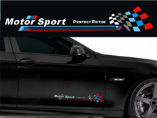 A Pair White Motor Sport Car Door Stickers Side Decal For M3 M5 1 3 5 7 Series