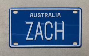ZACH Novelty Mini Number Plate
