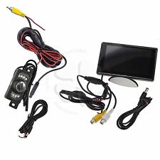 Rear View Camera System Kit 4.3 inch Color LCD Monitor Night Vision Sensors