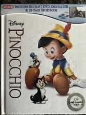 Pinocchio Signature Edition Target Blu-ray DVD Digibook Disney Real