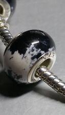 925er Silber Acrylglas Bead weiß schwarz Spacer Gleiter Element Modul NEU