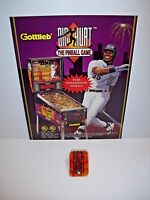 GOTTLIEB BIG HURT ORIGINAL PINBALL MACHINE NOS SALES FLYER + PROMO PLASTIC #2