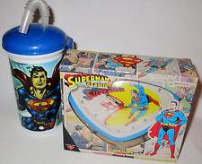 SUPERMAN LOT alarm clock & slurpee cup