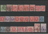 Wertvolles Lot Briefmarken Australien ab 1900 gestempelt 24 Werte