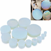 1 Pair Cool Opalite Ear Gauges Plugs Natural Organic Ear Tunnels Earlets Jewelry