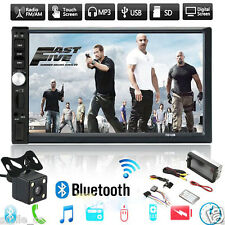 "7"" Double 2DIN Car MP5/3 Player Bluetooth Touch Screen Stereo Radio HD  Camera Z"