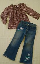 Baby gap girls 4T Into The Woods Top/Jeans Set 4T EUC
