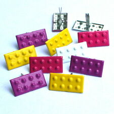 GIRLS BUILDING BLOCK BRADS ** 8 PCS ** SEE MY STORE *** 4 COLORS **