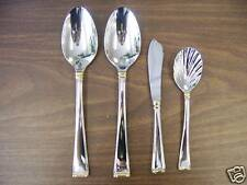 "Gorham ""Column Gold"" 4Pc Serving Set Stainless New"