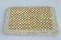 Vintage 1950's 60's White and AB Ivory Beaded Evening Bag  - Made in Hong Kong