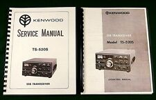 """Kenwood TS-520S Service & Instruction Manuals: Card Stock Covers & 28"""" Schematic"""