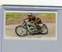 1938 W.D. & H.O. WILL'S CIGARETTES SPEED COLLECTOR CARD #28 248 CC D.K.W. KLUGE