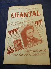 Partition Chantal Yvette Horner Marcelle Jorand Music Sheet