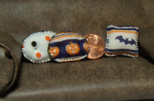 Dollhouse Miniature Cute Halloween Throw Pillows - Lot of 3 - Artisan Handmade