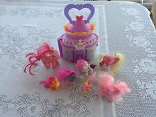 My Little Pony 8pc LOT Portable House 2008 McD's Pinkie Pie Scootaloo MLP Ponies