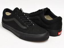 VANS BLACK OLD SKOOL TEEN BOYS/MENS CANVAS SHOES BLACK/BLACK