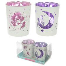Glas Teelichthalter 2er Set Feen Mond Kerzenhalter Windlicht Votivhalter Deko