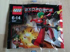 Lego 5966 + 5967 - Exoforce - Hikaru Flyer +Red Good Guy Takeshi Walker Polybag