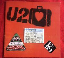 U2 ELEVATION Tour Book, Working Pass, SLANE CASTLE TICKET Stub Rare as a Promo