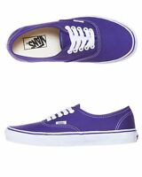 Vans Shoes Authentic USA SIZE Purple Iris True White Skate Board Surf FREE POST
