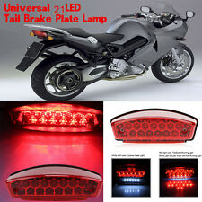 12V Universal 21 LED Motorcycle Rear Tail Brake Light Running License Plate Lamp