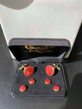 Stud Set - Red and Gold Brand New Classy Cuff Link and Tuxedo