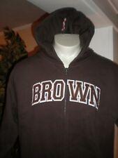 NEW Brown Bears BROWN FULL ZIP HOODED SWEATSHIRT SZ:L