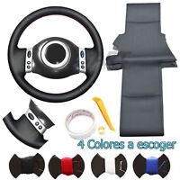 Funda de volante a medida para Mini One Cooper en cuero negro