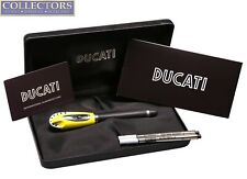 BOXED Ducati Yellow Black Rollerball Pen DU-RB/Y-B 8032779989011 Made in Italy
