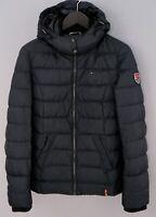 Women Tommy Hilfiger Denim Jacket Down Filled Warm Winter L UK14 ZMA184
