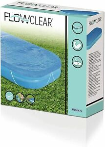 """Bestway 10ft Swimmimg Pool Cover With Rubber Bands 129 x 82"""" HEAVY DUTY"""