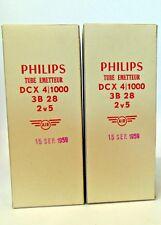 3B28 DCX4-1000 Philips NOS Xenon Rectifier Tubes 2 Pcs lot