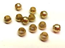 Ф4mm Hole Diameter Brass Olive Barrel Compression Sleeve Ferrule Ring 12pcs