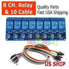 8 Channel 5v Relay Shield Module Board Amp Cables Arduino Raspberry Pi Arm Avr