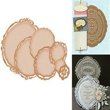 7pcs Oval Frame Photo Frame DIY Metal Cutting Dies Stencils Scrapbook Embossing