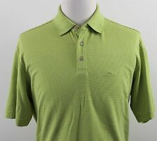 MINT Tommy Bahama Superfecta Striped Polo Shirt MENS LARGE Green Modal T21142