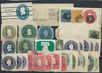 1897/1927 USA STATI UNITI LOTTO RITAGLI DI INTERI D/6062