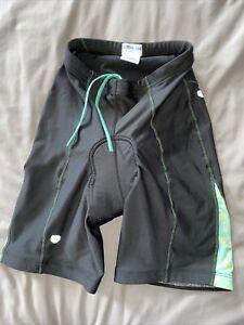 Pearl Izumi   Padded Cycling Shorts Women's L Black W/mint& Yellow