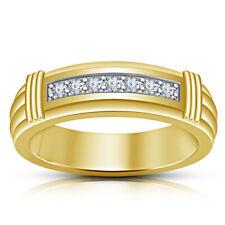 14K Yellow Gold Fn Round 1 CT Diamond Men's Wedding Pinky Engagement Band Ring