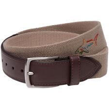 Greg Norman Mens Web Belt W/Shark Buckle