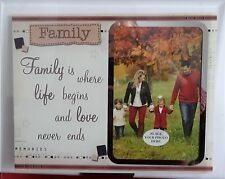 """ Family ""  Glass Photo Frame Keepsake /Boxed /Gift/"