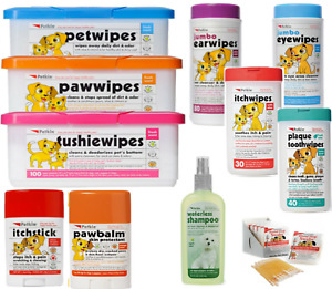 Petkin Dog Sun Screen SPF15 Ear Eye Paw Itch Tooth Tushie Wipes Blood Stop Cat