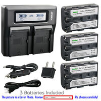 Kastar Battery LCD Dual Fast Charger for Sony NP-FM50 & DCR-TRV740 DCR-TRV80