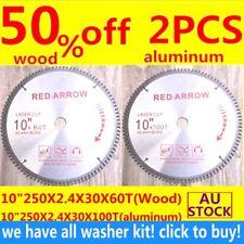 Carbide Circular saw blade 10inch 250mmX100TAluminium 60Twood plastics TCTwasher