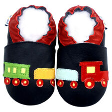 Soft Sole Leather Baby First Walking Crib Infant Children TrainNavy Shoes 18-24M